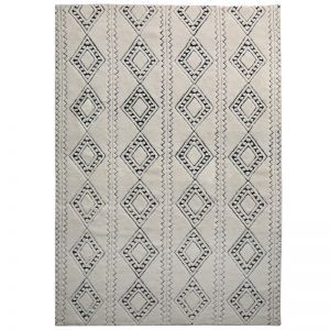 Honeycomb Weave Rug by Amigos de Hoy | Pewter
