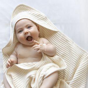 Hooded Baby Waffle Towel