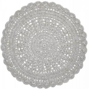 Hooked Wool 150 cm Round Rug | Light Silver