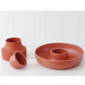 Hoop   Modular Serving Bowl   Paprika