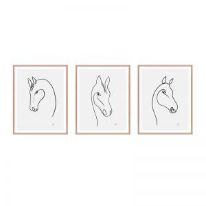 Horse | Framed Print Set | ArteFocus