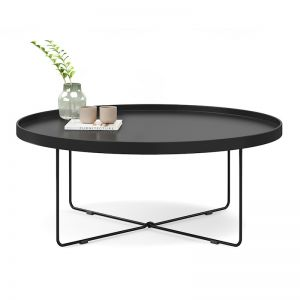 Hover Round Tray Coffee Table | Black