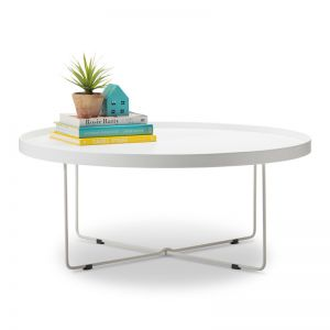 Hover Round Tray Coffee Table | White