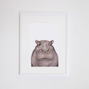 Hugo the Hippo | Giclee Print | by For Me By Dee