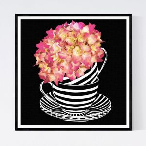 Hydrangea Sunset | TEACUP BLOOM SERIES I | Fine Art Prints & Canvas