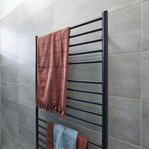 Hydrotherm Matt Black Heated Towel Rail  | Reece