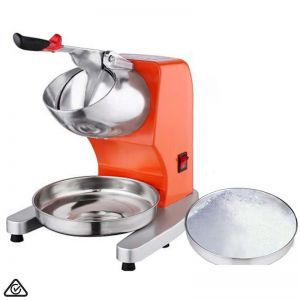 Ice Shaver Electric Stainless Steel Ice Crusher | Orange