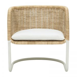 Icon Lounge Chair | White Linen