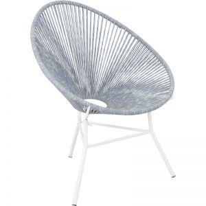 Ikemura Iron & Rope Chair | Grey & White | Schots
