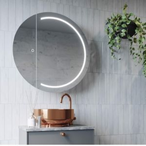Illuminated Round Mirror Cabinet