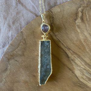 Ilsa Double Stone Necklace