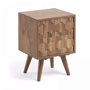 Image Timber Bedside Table