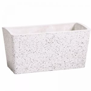 Imitation Stone Concrete White Rectangle Planter   50cm