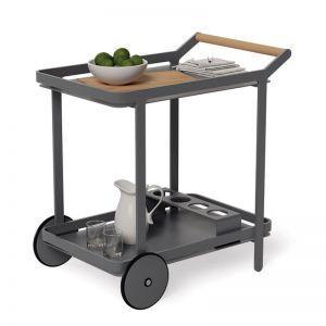 Imola Outdoor Bar Cart Drinks Trolley | Matt Charcoal