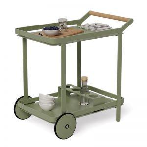 Imola Outdoor Bar Cart Drinks Trolley | Matt Eucalyptus Green