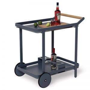 Imola Outdoor Bar Cart Drinks Trolley | Matt Midnight Blue