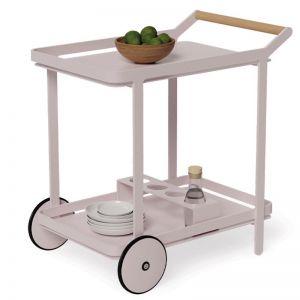 Imola Outdoor Bar Cart Drinks Trolley | Matt Pale Pink Blush