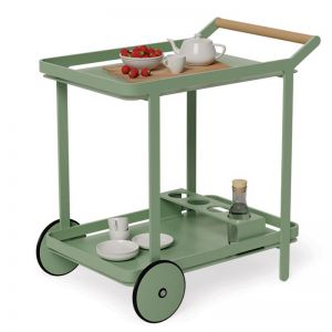 Imola Outdoor Bar Cart Drinks Trolley | Matt Sage Green