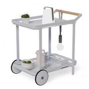 Imola Outdoor Bar Cart Drinks Trolley | Matt Silver Grey