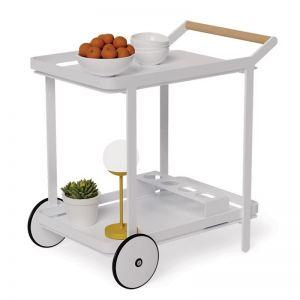 Imola Outdoor Bar Cart Drinks Trolley | Matt White