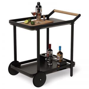 Imola Outdoor Bar Cart Trolley | Matt Black