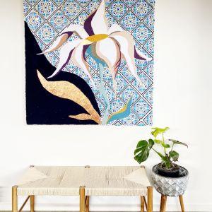 Imperfectly Perfect | Original Textile Artwork | Framed in Oak