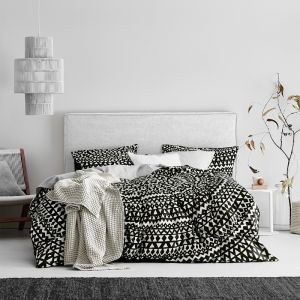 Inca Quilt Cover Set | Black by Aura Home