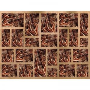 Indigenous Rust   Printed Canvas