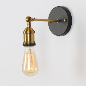 Industrial Brass Bare Edison Bulb Wall Light | PRE-ORDER