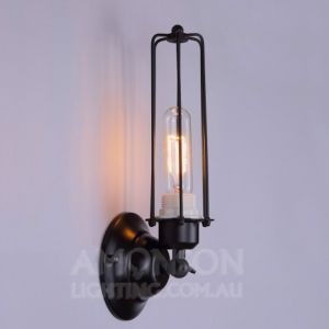 Industrial Edison Caged Wall Light | E27 Head