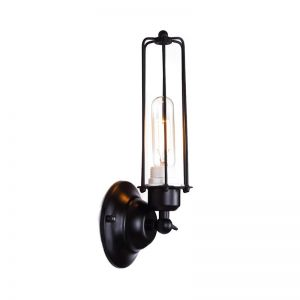 Industrial Edison Caged Wall Light   E27 Head