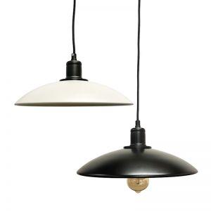 Industrial Pendant Light    Black or White