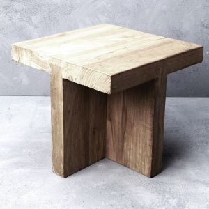 Ines Rustic Finish Squared-off Coffee Table