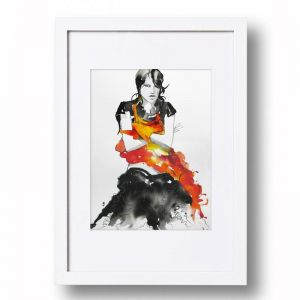 Ink Ruffle #2 | Signed Artist's Print | Various Sizes for Easy Framing
