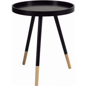 Innis Side Table in White/Black | Modern Furniture