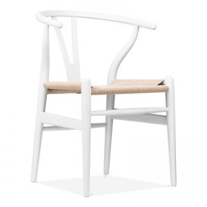 Inspire Dining Chair | White Frame | Natural Cord Seat