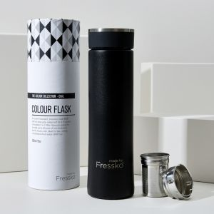 Insulated Flask | Black Stainless Steel 500ml /16oz