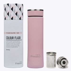 Insulated Flask | Pink Stainless Steel 500ml / 16oz