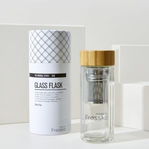 Insulated Flask | Rise Glass | 2 in 1 Infuser 300ml / 10oz