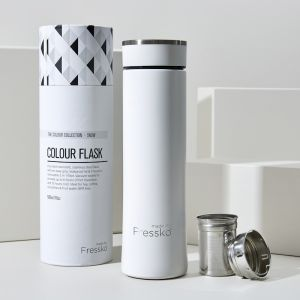 Insulated Flask | White Stainless Steel 500ml / 16oz