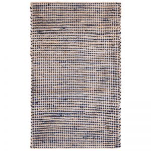 IRIS Royal Blue Jute Rug | Fab Habitat | Various Sizes