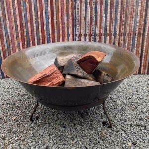 Iron Fire Bowl With Stand