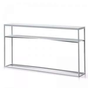 Isma Marble Console Table   White