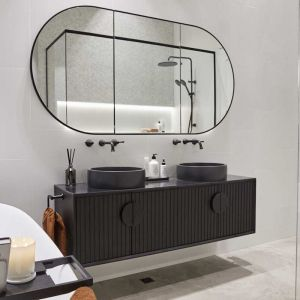ISSY Halo I Vanity Unit with 4 Doors & Internal Shelf with Handle | Reece