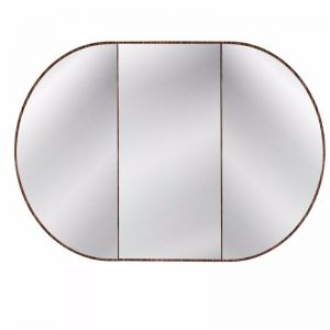 Issy Halo Rounded Triple Mirror with Shaving Cabinet