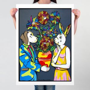 It was time for flower power | Limited Edition Giclee Print | by Gillie and Marc