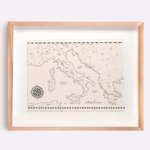 Italy Map Illustration | Print by Adrianne Design