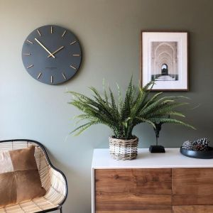 Ivy Charcoal Grey Silent Wall Clock | by One Six Eight London