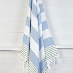 Izmir Denim/Olive | Turkish Towel