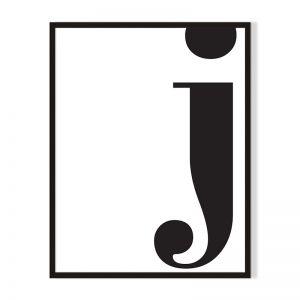 J | Framed Print | Artefocus